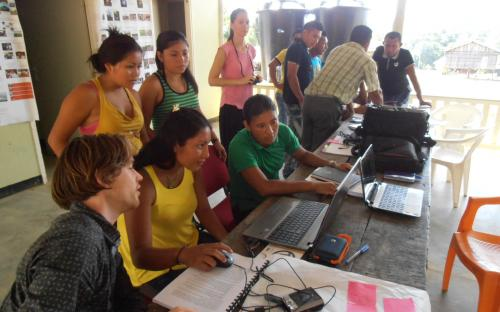 Cobra team in Kwamalasamutu - preparing the storyboard